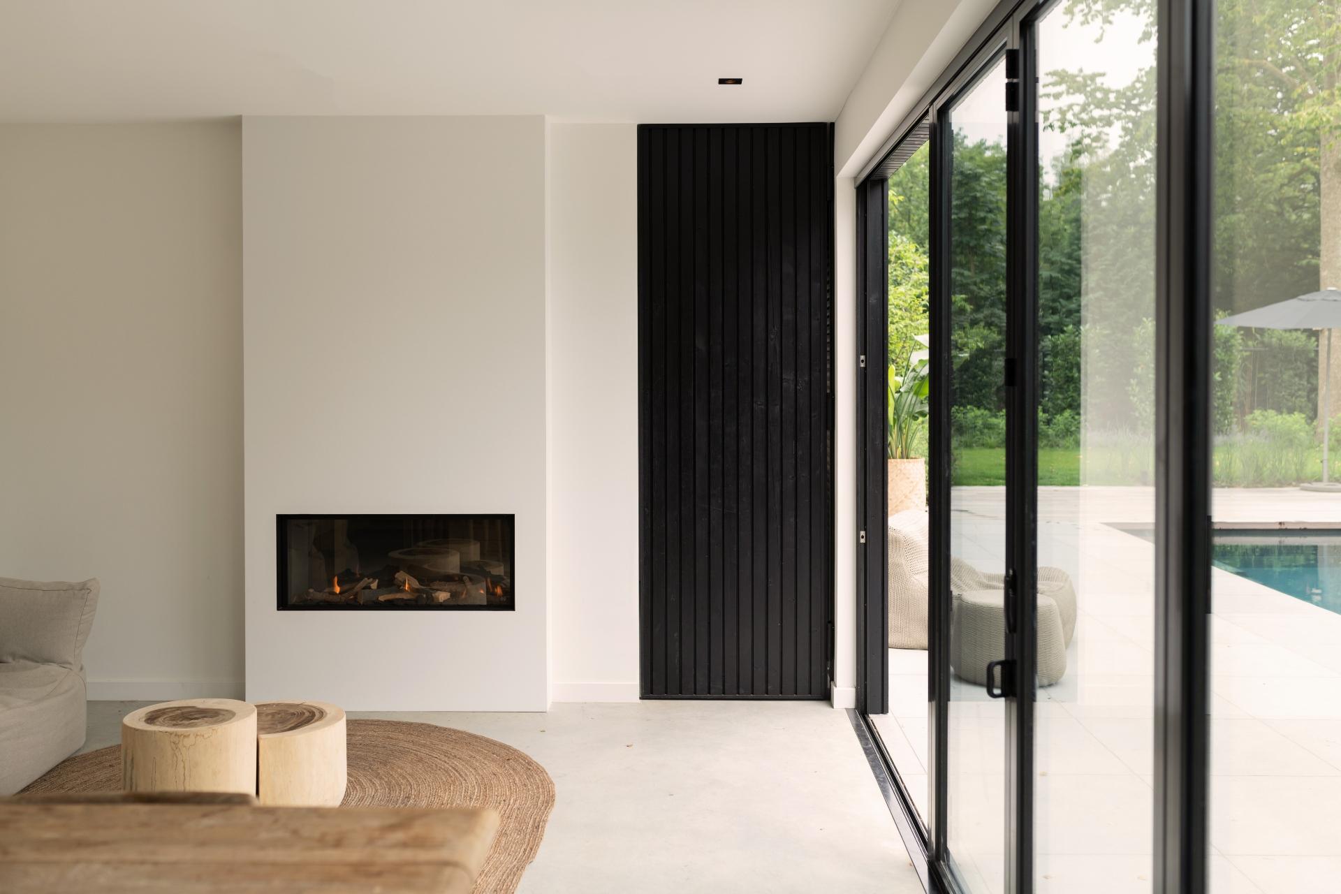 Poolhouse Bronkhorst met betonvloer en sauna