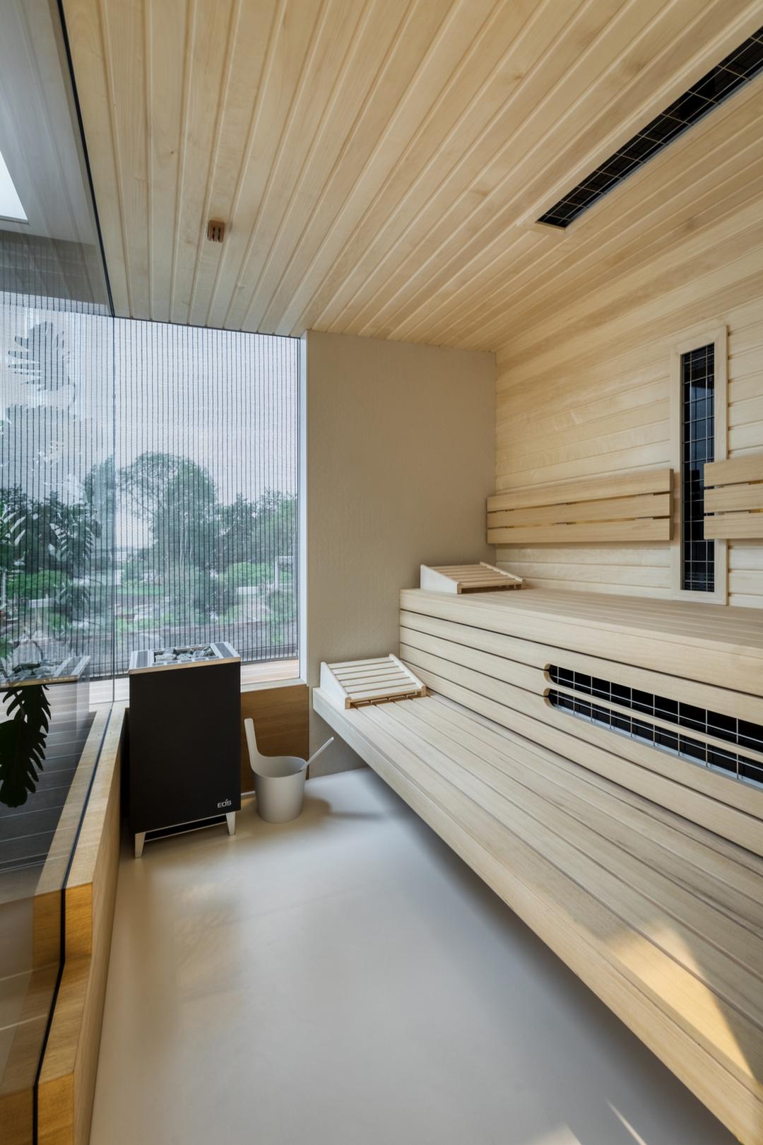 Maatwerk Welson sauna met infraroodstralers