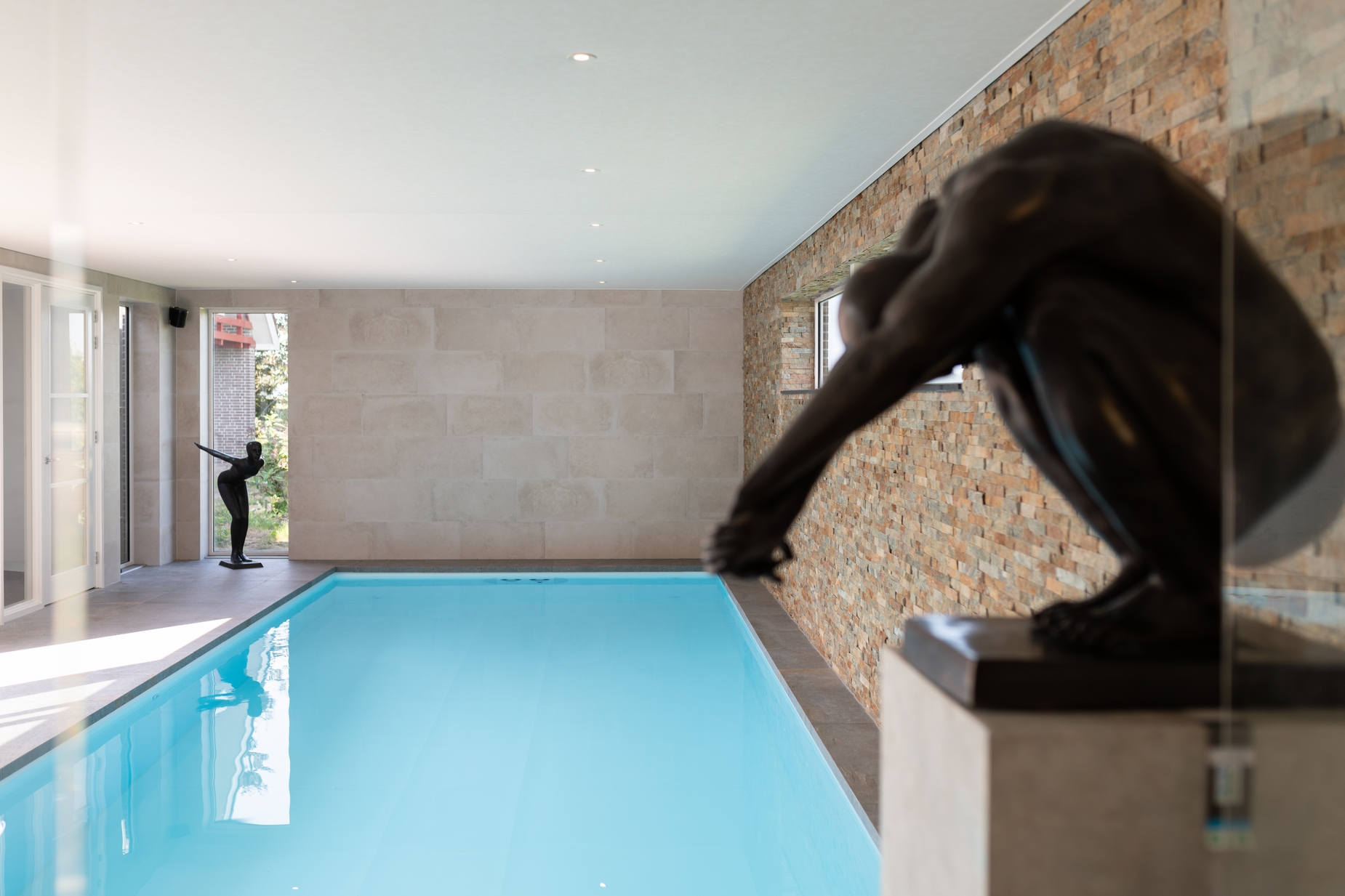 Polypropyleen zwembad op maat gemaakt met kunst